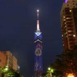 新たな秋の風物詩 福岡タワーに大きな満月が浮かび上がる!<br>お月見イルミネーションは9月18日~10月12日まで