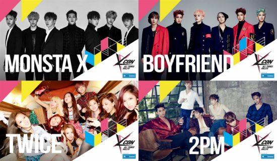 KCON 2016 Japan × M COUNTDOWN 第1次ラインナップ